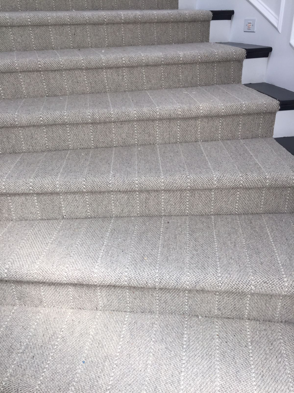 Neutral Stripe Stair Runner Striped Stair Runner Carpet Stairs | Modern Carpet Runners For Stairs | Geometric | Design | White | Curved | Kitchen Modern