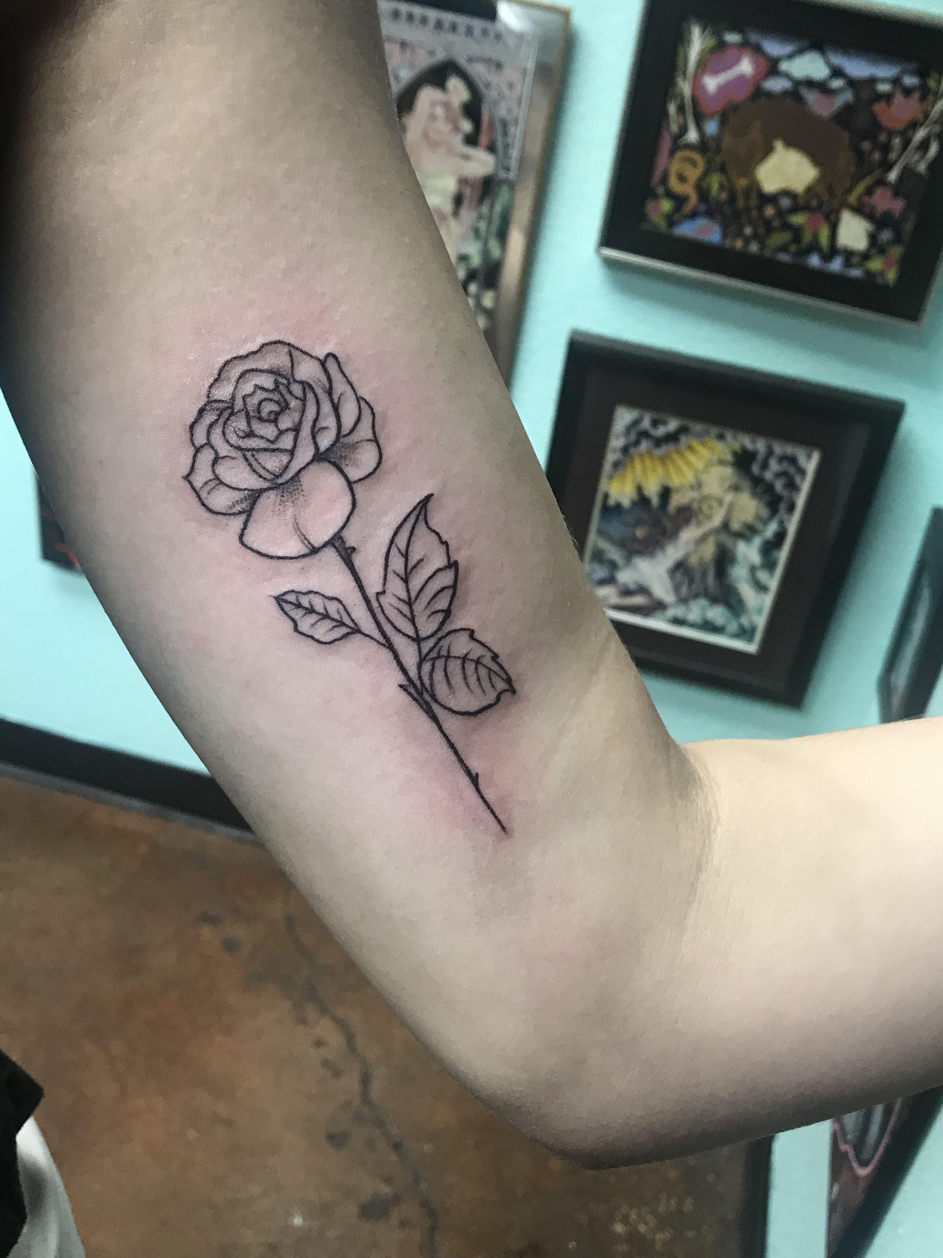 Rose tattoo Arm tattoo Outline tattoo simple rose Simple tattoo