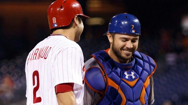 Travis d'Arnaud and his brother Chase played against each other professionally for the first time on 9/29/15