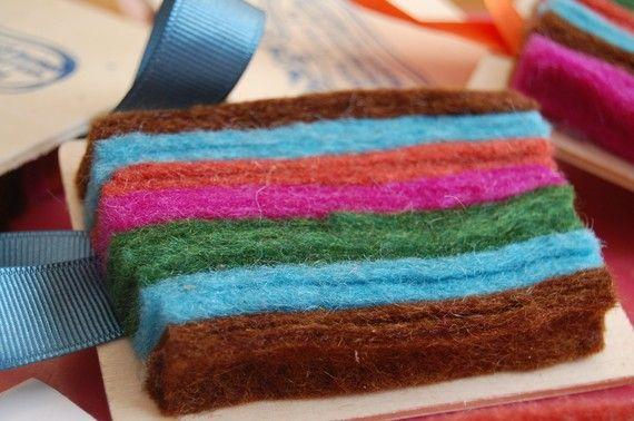 Idea For Diy Chalkboard Eraser Made From Wood And Wool Felt Diy Chalkboard Chalkboard Crafty Craft