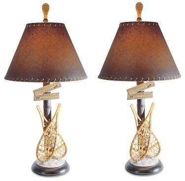 SNOW SHOE TABLE LAMP PAIR List Price: $295.00 Your Price: $229.00 Sale Price: $205.00 Savings: $90.00!