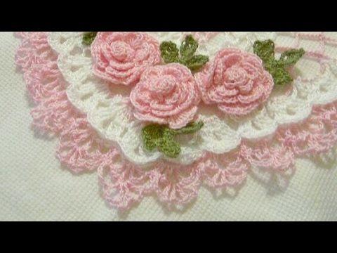 Crochê com Amor 95 modelos de toalhinhas de crochê com flores ...