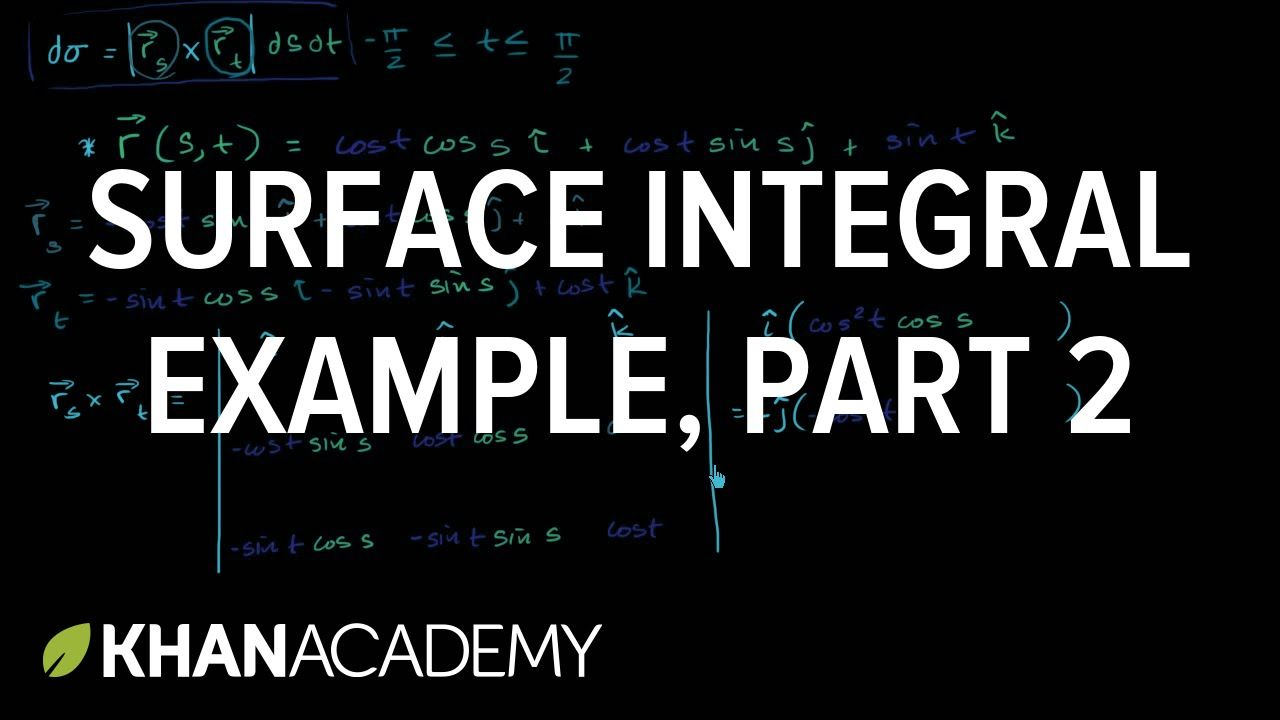 Surface Integral Example Part 2 Calculating The Surface Differential Surface