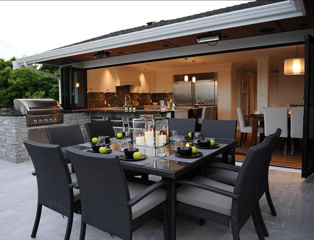 outdoor dining areas. great outdoor dining area. kitchen opens to