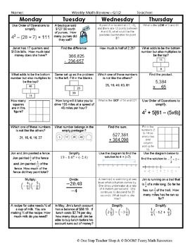 7th grade math spiral review 7th grade math homework 7th grade 7th grade math spiral review 7th grade math homework 7th grade math warm ups fandeluxe Images