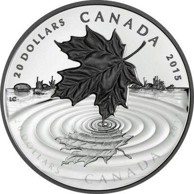 20 Dollar Silber Maple Leaf - Spiegelung PP