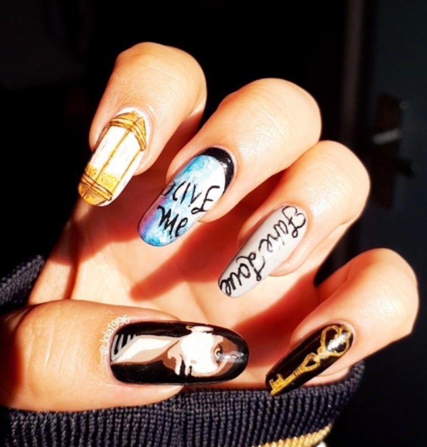 Bts nail art Fake love mv inspired | Nail Art | Pinterest | BTS ...