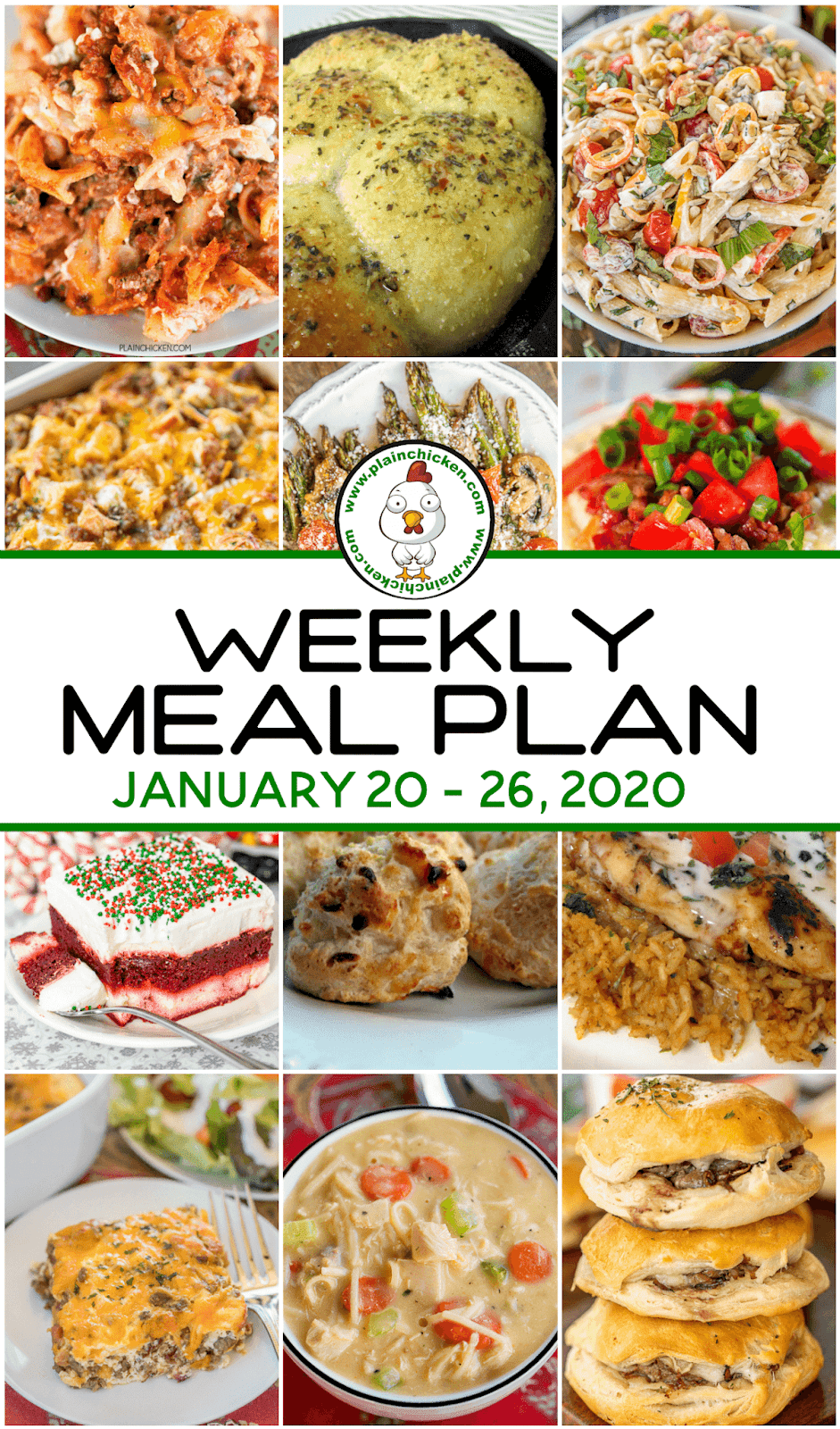 What's For Dinner Weekly Meal Plan   Week meal plan, Meal ...