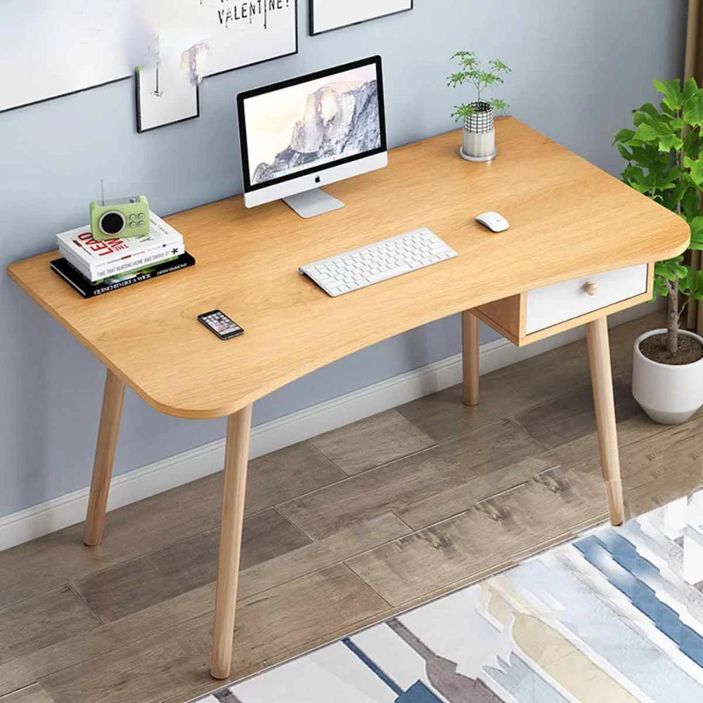 Almeda Cheatham Solid Wood Desk In 2020 Solid Wood Desk Wood Desk Simple Computer Desk