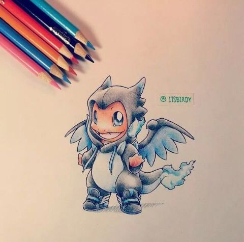 cute charmander charizard x drawing