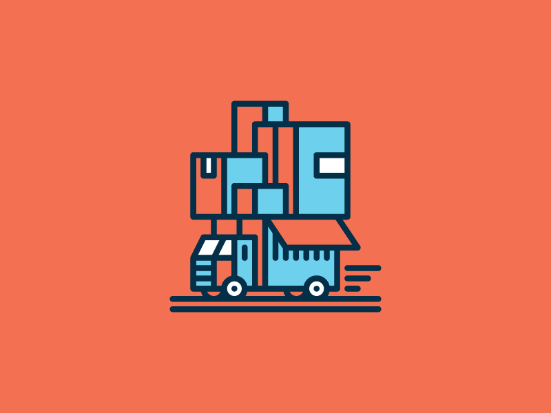 Moving Van Moving Van Icon Illustration Van Design