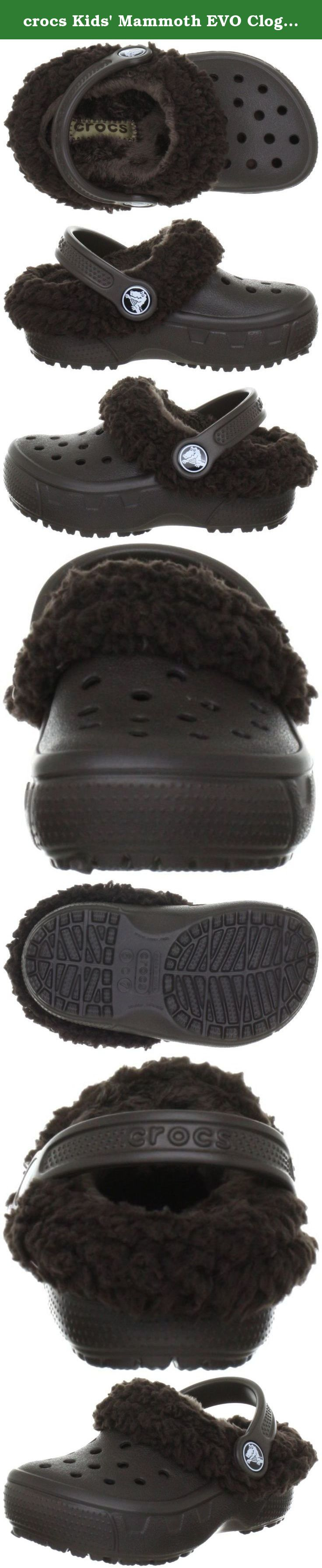 Crocs Mammoth EVO Clog Kids Espresso Espresso Warm lining is removable and washable Heel cup provides a more secure fit Heel cup