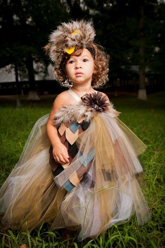 owl halloween costume tutu dress with wings and 2014 halloween for kids 2014 - Baby Owl Halloween Costumes
