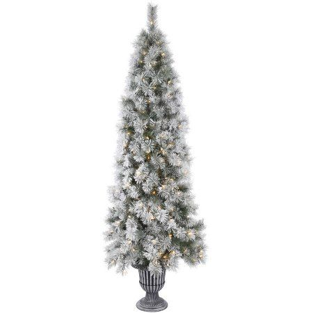 Vickerman 5 5 Potted Frosted Brewer Pine Artificial Christmas Tree With 150 Clear Lights Walmart Com Christmas Tree Clear Lights Potted Christmas Trees Christmas Tree Sale