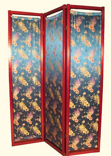 Oriental Furnishings - Oriental Folding Screen With Silk Crysanthemum Design, $75.00 (http://www.orientalfurnishings.com/oriental-folding-screen-with-silk-crysanthemum-design/)