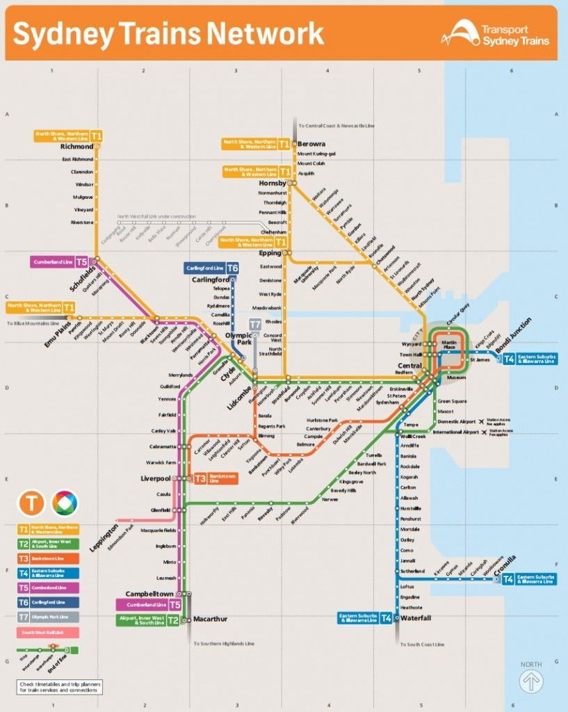 Sydney train map Tooristr Sydney train map Pinterest Train map