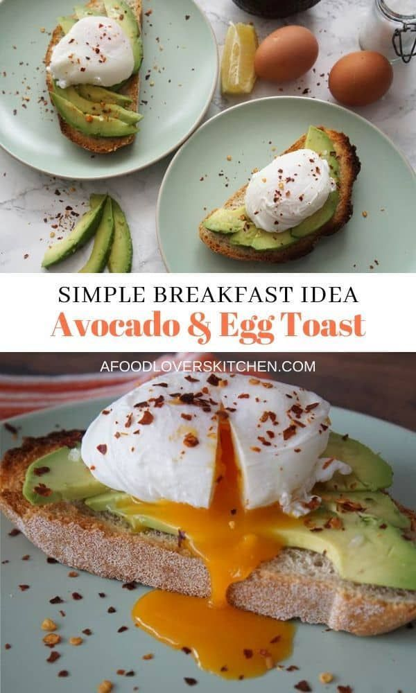 Avocado Egg Toast Try this Avocado Egg Toast for breakfast - its simple, fast, and so tasty. Youl