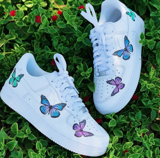 Pastel Butterfly Effect AF1 | Butterfly shoes, Nike air