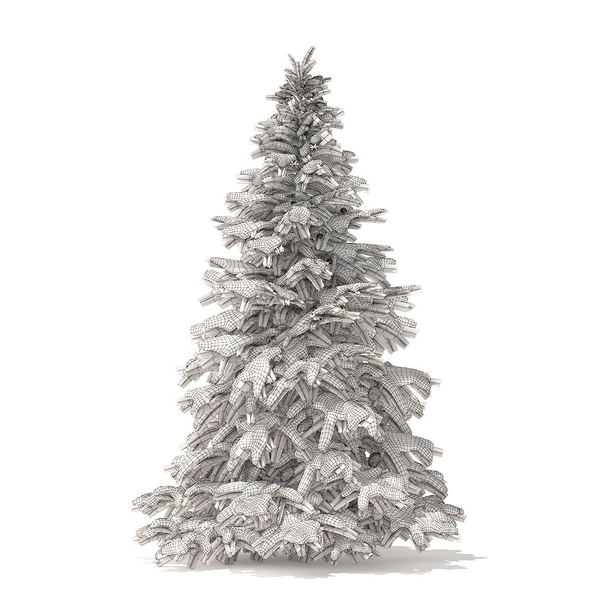 Spruce Tree With Snow 3d Model 2 8m Tree Spruce Snow Model Spruce Tree Tree Wedding Design Inspiration