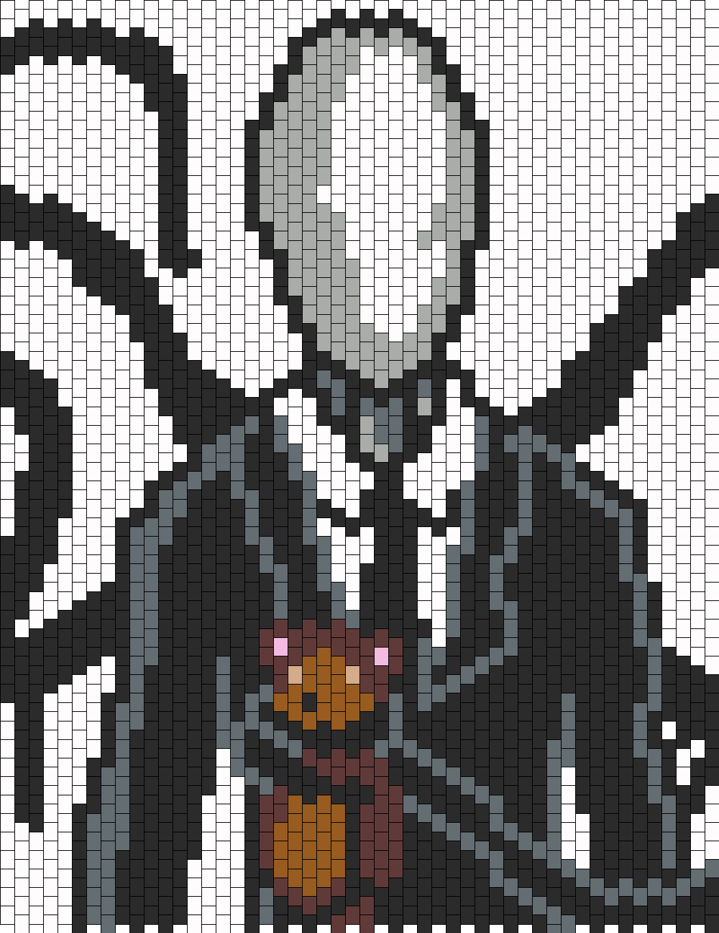 Slenderman Bead Pattern | Cross Stitch-- Unsorted ...