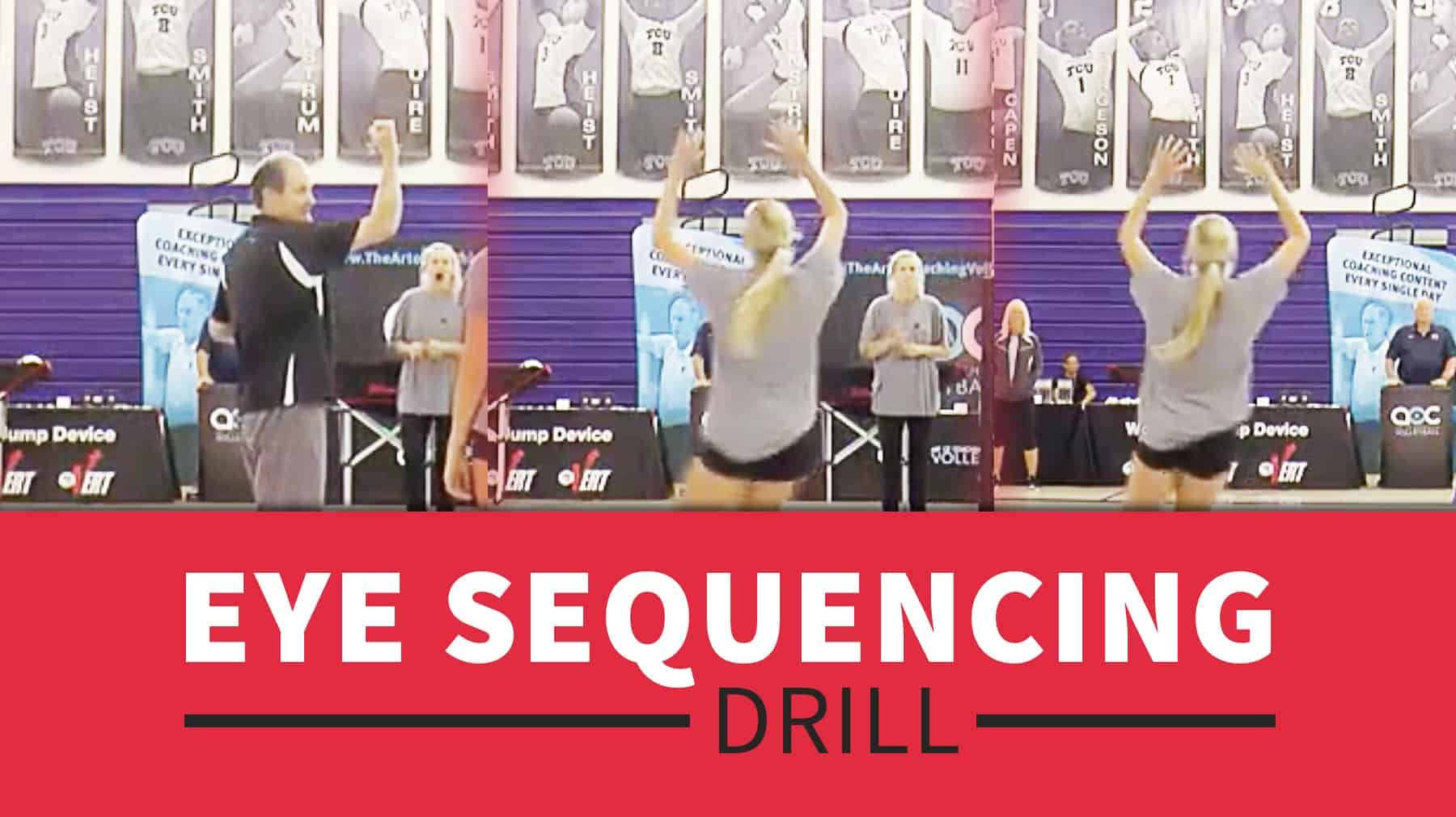 Eye Sequencing Drill With Terry Liskevych Coaching Volleyball Volleyball Drills Volleyball Training
