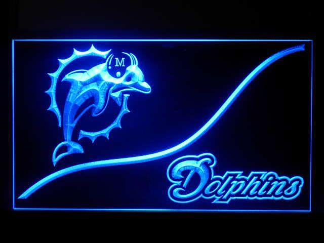 P011B Miami Dolphins Bar Pub Beer Sport Game Champion Star