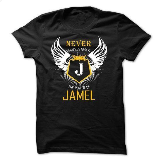 Never Underestimate The Power of JAMEL - #tshirt upcycle #tshirt yarn. ORDER NOW => https://www.sunfrog.com/Names/Never-Underestimate-The-Power-of-JAMEL-50447710-Guys.html?68278