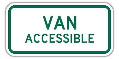 "R7-8P_Van_Accessible_Signs_12""_x_6""_Engineer_Grade_101810"