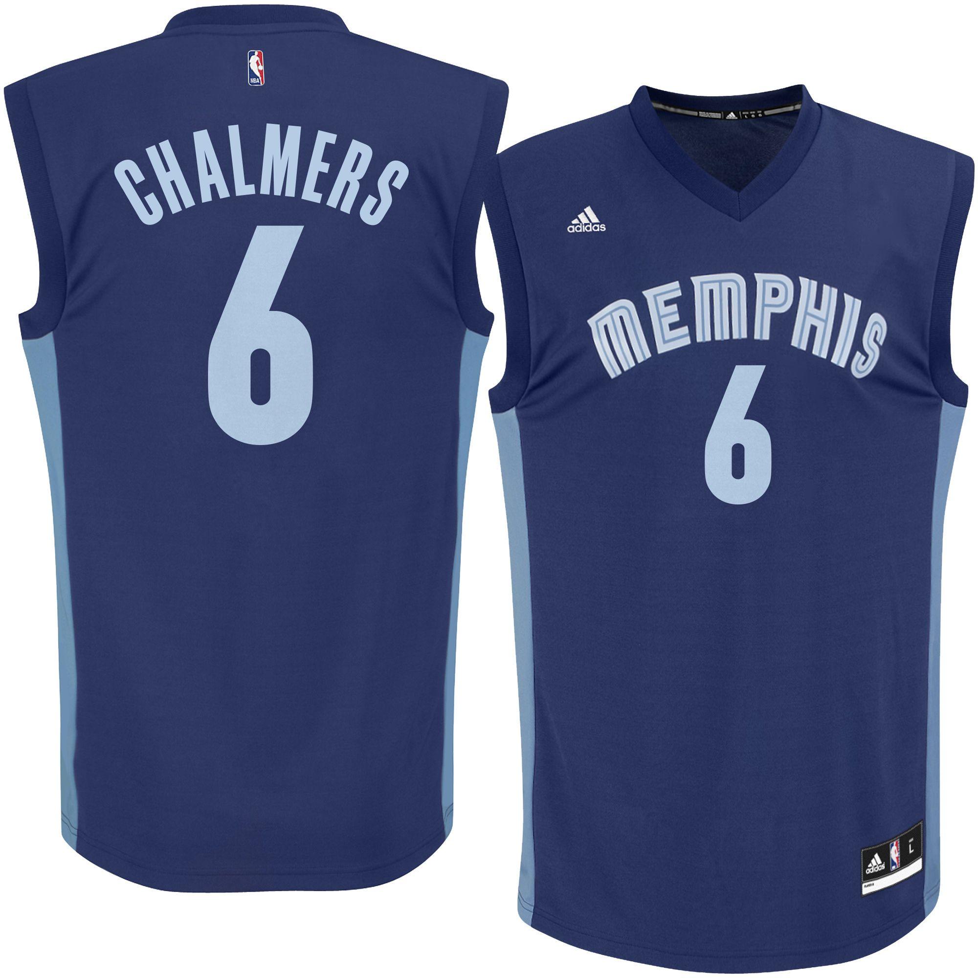 659fd48dd124 Men s Memphis Grizzlies Mario Chalmers adidas Navy Replica Jersey ...