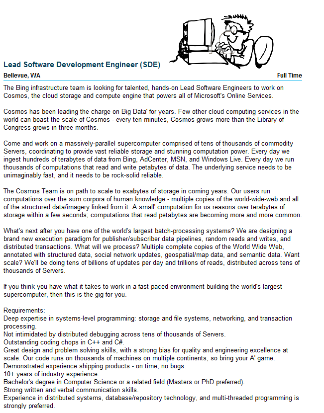 Check Out This Job Posting From JobserveCom Lead Software