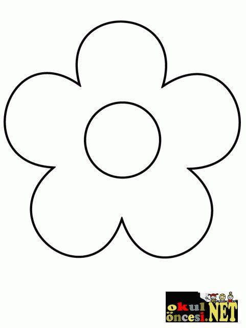 çiçek Kalıbı Boyama Sayfaları Anneler Günü Coloriage Bricolage