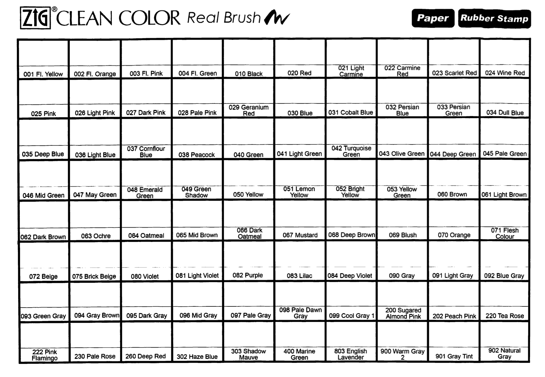 Kuretake zig clean colour real brush markers colour chart top kuretake zig clean colour real brush markers colour chart top tip fill in the nvjuhfo Choice Image