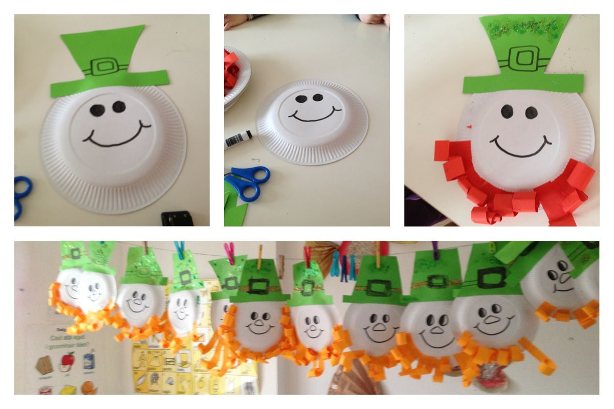 Easy Art Craft For St Patricks Day Very Easy To Make Paper Plate