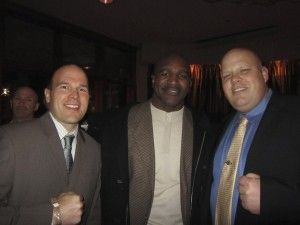 Greg & Kevin in Dallas with Evander Holyfield, former Heavyweight Boxing Champion