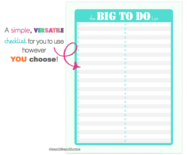Clean Life and Home: free printable