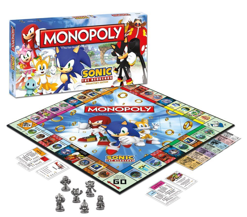 Parker brothers monopoly sonic the hedgehog game