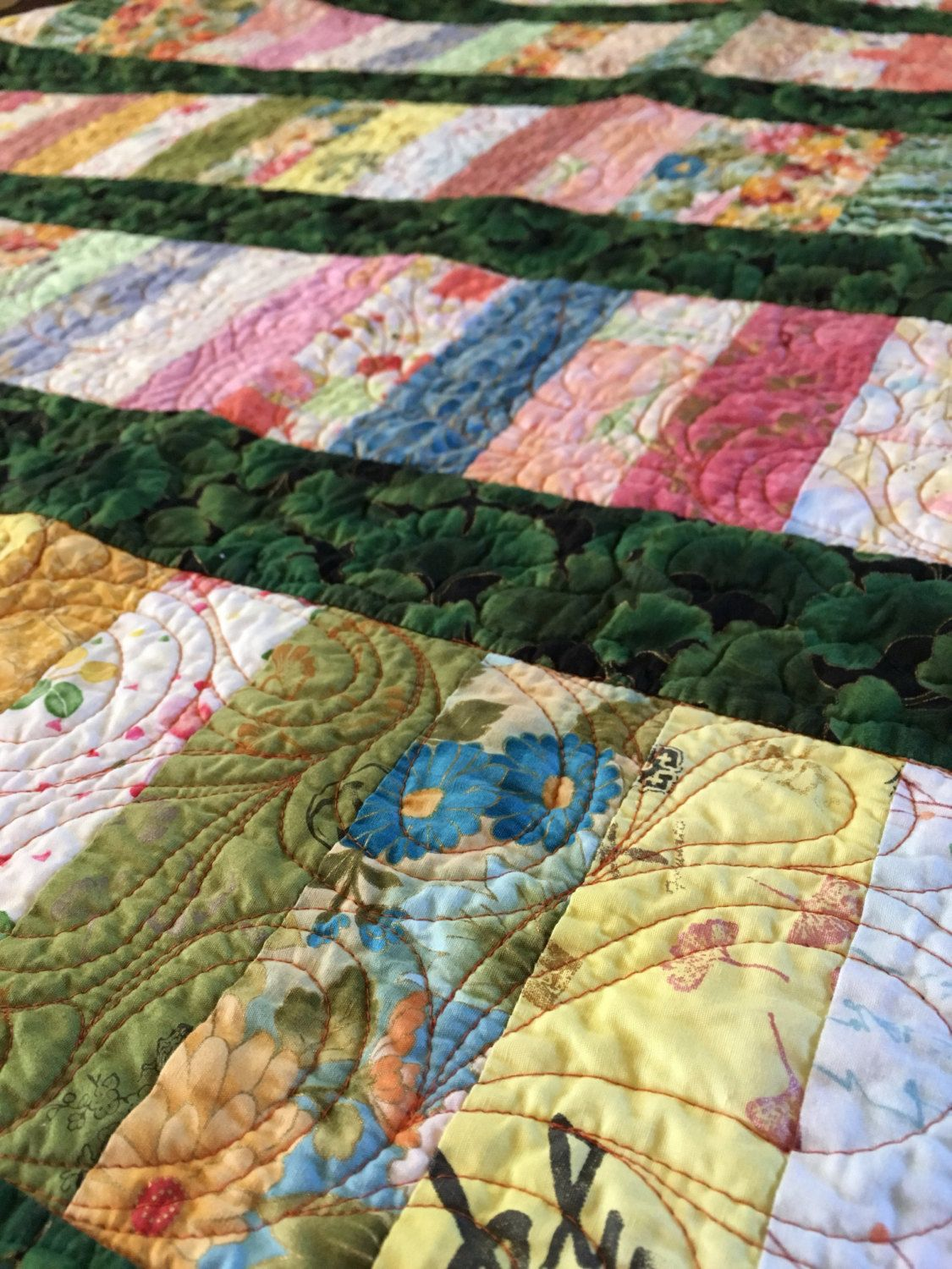Lap Quilt - Handmade Quilt - Patchwork Quilt - Asian Decor ... : quilted lap throws - Adamdwight.com