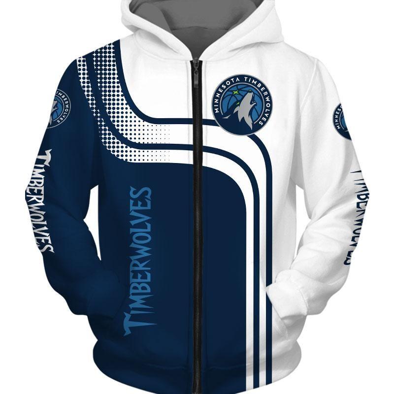 New 2019 Minnesota Timberwolves Hoodie 3d Cheap Basketball