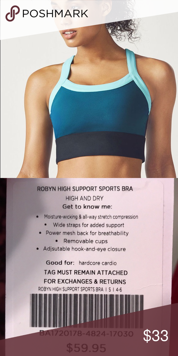 8e4f8d69eeab2 Fabletics Robyn High Support Sports Bra NWT Beat the bounce in our highest  support bra with