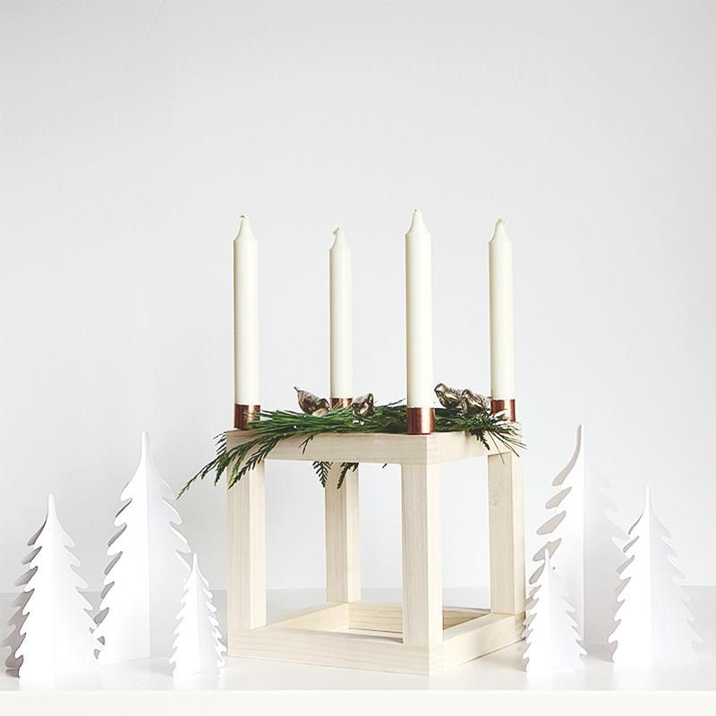 Scandinavian Advent Cube Candle Holder Advent Candles Christmas Tree Candle Holder Advent Candle Holder