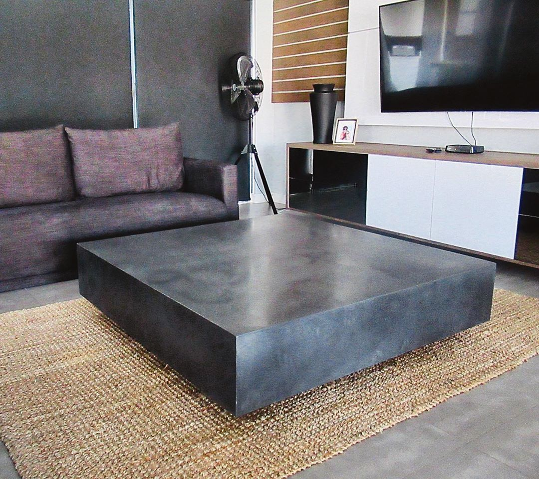Concrete Tiles Objects On Instagram This Podium Like Coffee Table Gives The Impression Of A Floa Contemporary Furniture Coffee Table Functional Furniture [ 960 x 1080 Pixel ]