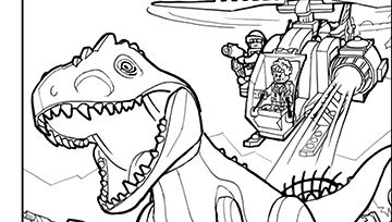 LEGO Jurassic Park coloring pages | Colouring | Pinterest