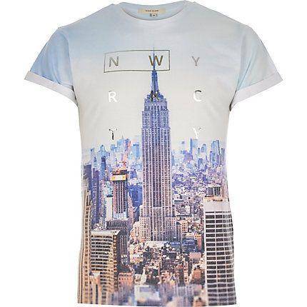 Blue New York City print t-shirt £14.40