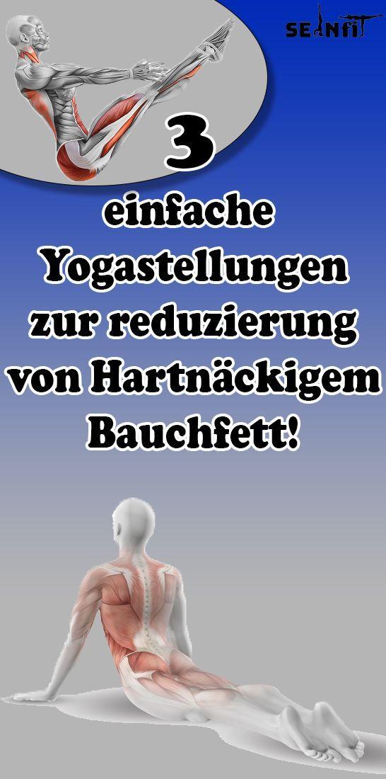 3 einfache Yogastellungen, um hartnäckiges Bauchfett zu reduzieren!   - Gesundheit und fitness - #Ba...