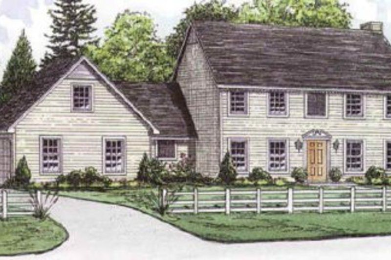 Colonial Style House Plan 4 Beds 2 5 Baths 2178 Sq Ft Plan 16 209 House Plans Colonial House Plans Simple Farmhouse Plans