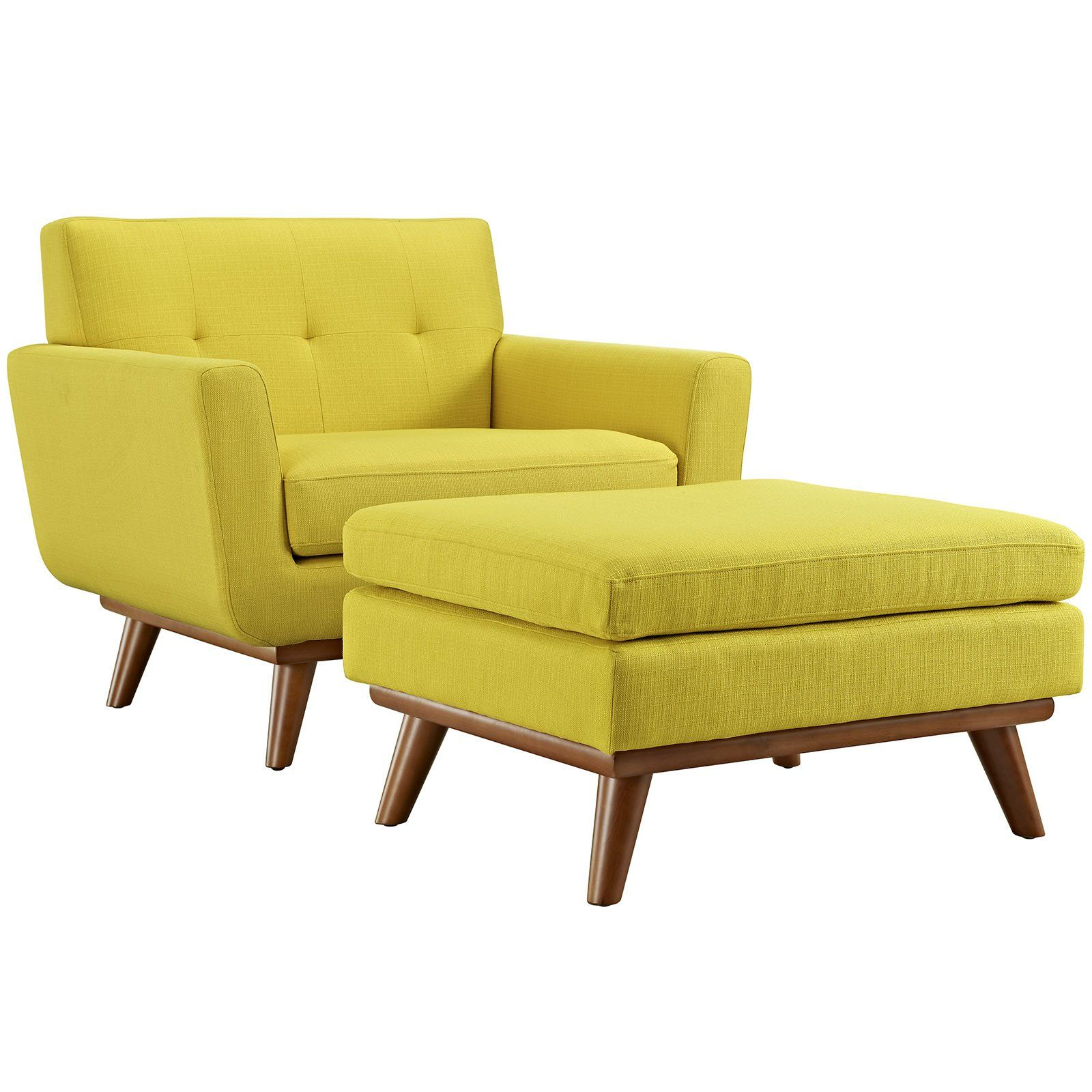 Engage 2 Piece Armchair and Ottoman EEI 2187