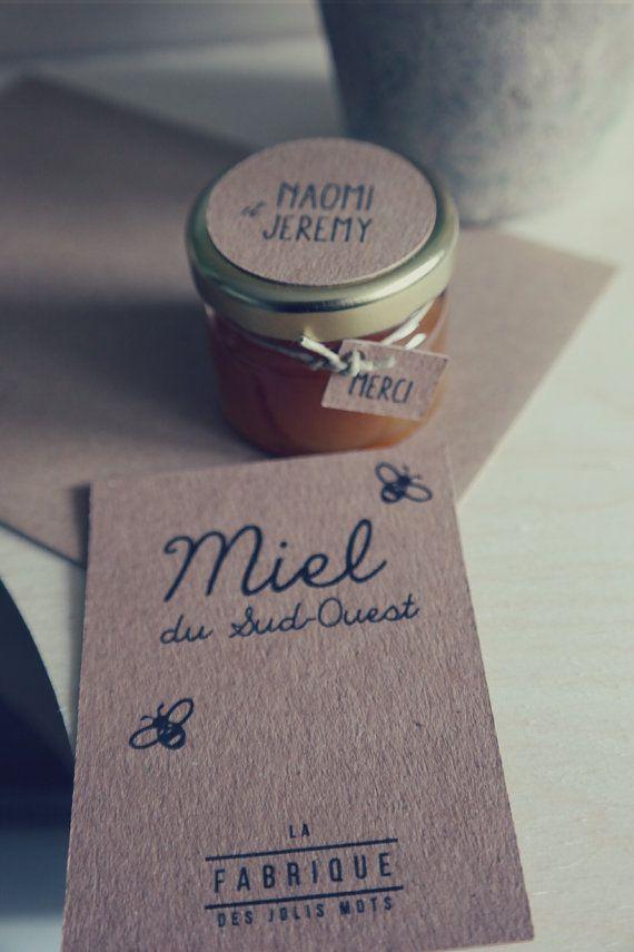 Cadeaux invités petit pot de miel 30 gr by Lafabrique31 on Etsy