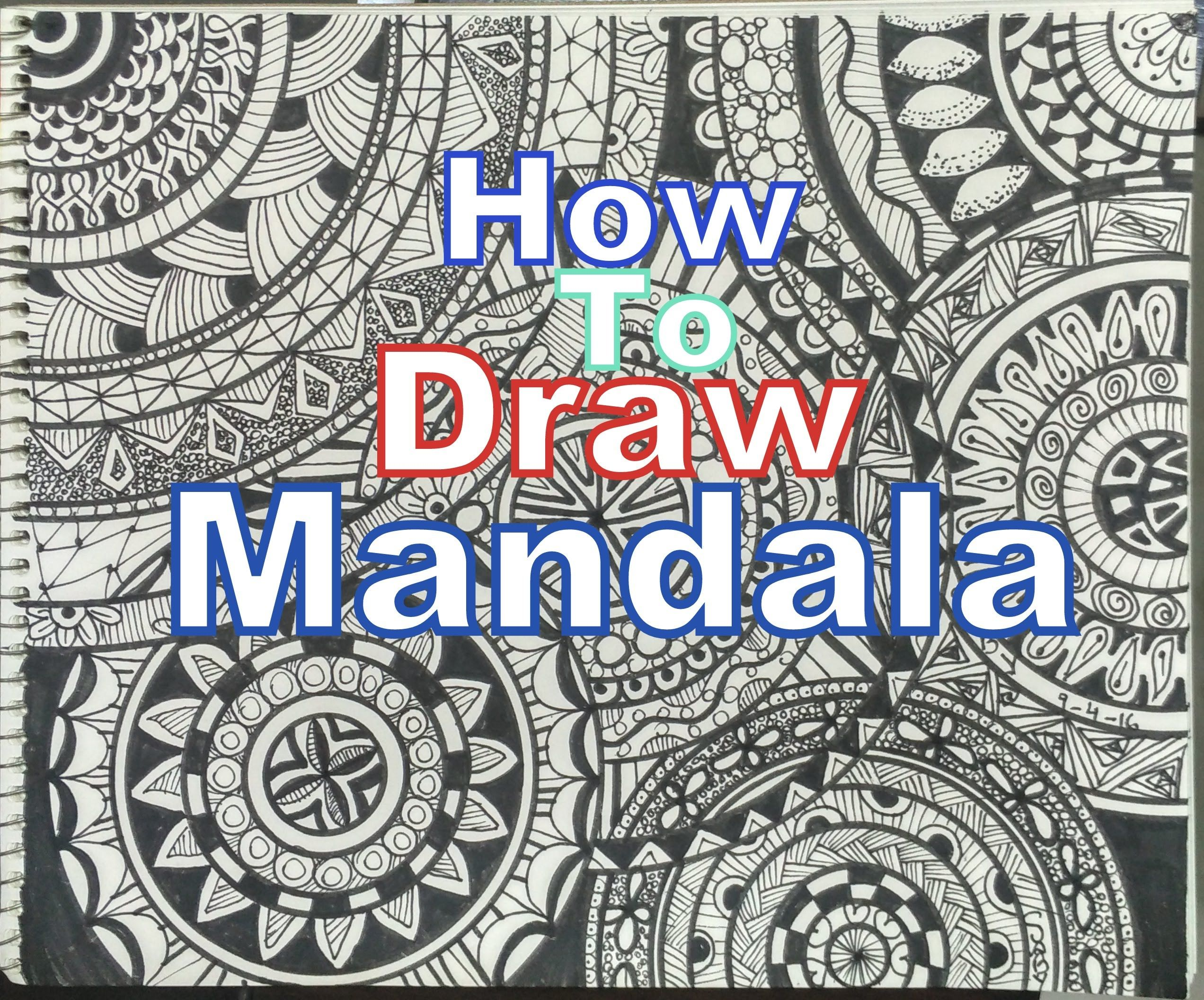 How To Draw Complex Mandala Art Design For Beginners Easy Tutorial Doodle Drawing Step By Something4allofus