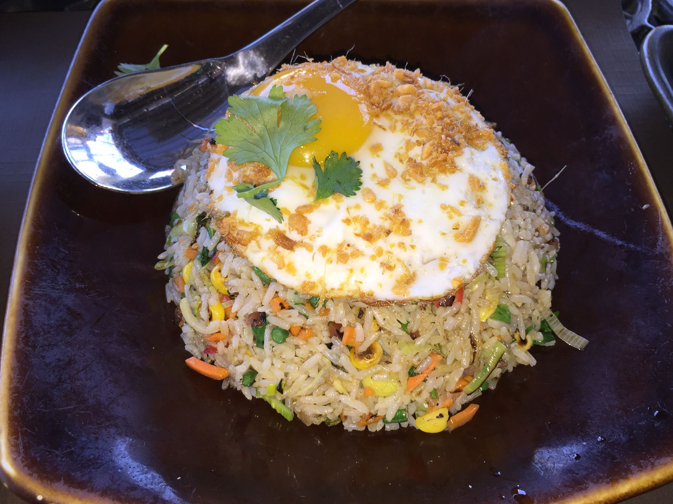 rocksugar pan asian kitchen century city ca ginger fried rice