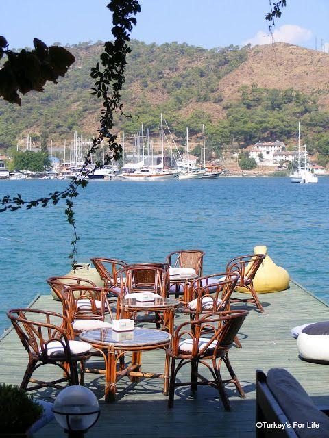 View From Deniz Kafe, Fethiye, Southwest Turkey.